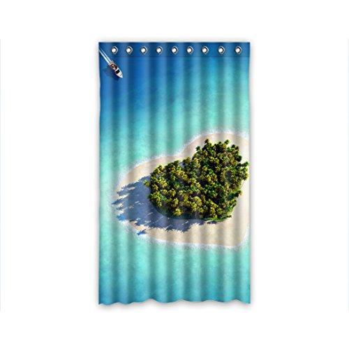 Doubee Custom Duschvorhänge Liebe Love Polyester Vorhang Design 127cm x 213cm (1 Stück)