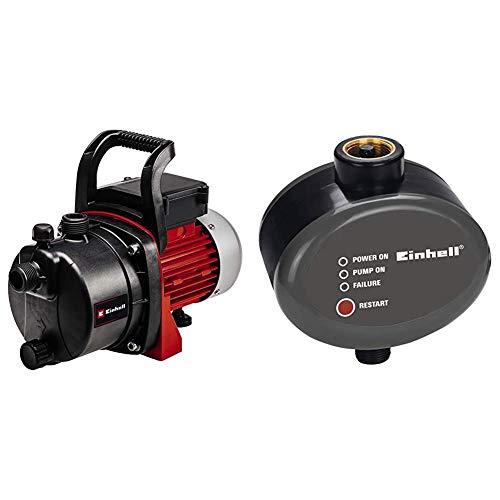 Einhell GC-GP 6538Bomba de agua de trasvase (650W, capacidad 3800 l/h, presión 3.6 bar, 220240 V)(ref.4180280) +Interruptor de descarga electrónico para bomba