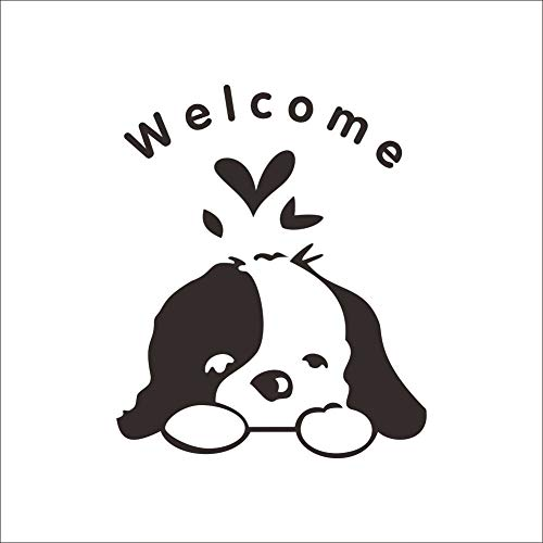 NOEL Wall Stickers - Welcome Kids Room Dogs Door Sticker Funny Toilet Bathroom Car Glass Wall Stickers Home Decoration Decals Wallpaper Art Poster - by 1 PCs