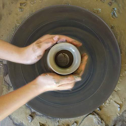 Plateau tournant en Argile Souple 11,5 cm Double Face en Plastique Roue en céramique Petite Table de Rotation de Classe d'art pour la Sculpture en céramique