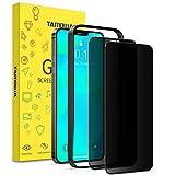 TAMOWA 2 Piezas Protector Pantalla Privacidad Compatible con iPhone 12 Pro (6.1'), 3D Cubierta Completa Anti Spy Cristal Templado, Anti Espía Vidrio Templado Compatible con iPhone 12 Pro/iPhone 12