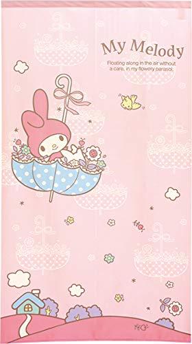 のれん タペストリー 幅85×丈150cm マイメロディ パラソル (PI(ピンク)91937)