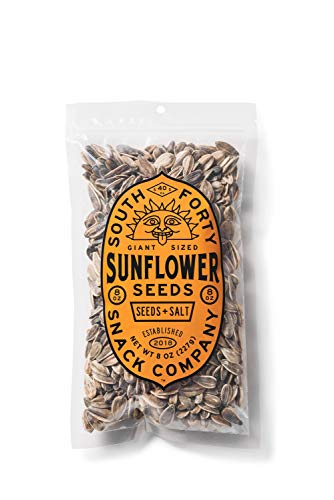 Premium Sunflower Seeds - Jumbo Sized, Batch Roasted, Perfectly Salted, In-Shell Bulk (8oz bags, Pack of 3) Packaged for Ultimate Freshness South 40 Snacks