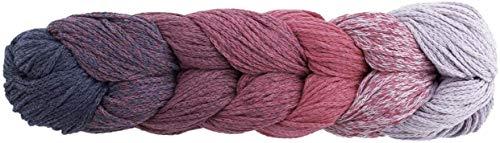 Woolly Hugs Rope Plait 188 pink, Taschengarn, Rope Garn zum Einkaufsnetz oder Tasche häkeln, mit Farbverlauf und Anleitung, 250g
