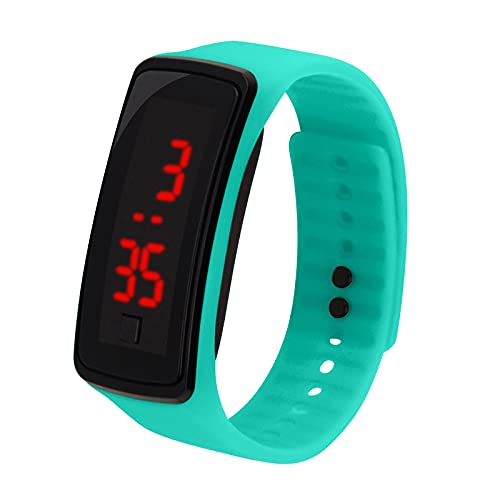 2021 Kid's Electronic Watch LED Silicone LED Smartwatch Touch, Waterproof (Mint Green)