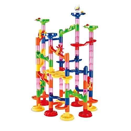 skrskr Bau Kugelbahn Rennstrecke DIY Gebäude Eisenbahn 105 Stück Set Kinder 3D Labyrinth Ball Roll Spielzeug Kinder Weihnachtsgeschenk
