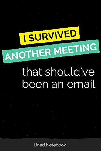 I Survived Another Meeting That Should've Been an Email: Lined Notebook