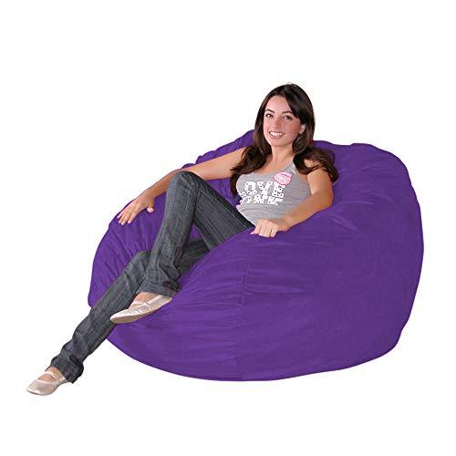 Cozy Sack 3-Feet Bean Bag Chair, Medium, Purple