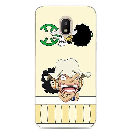 LUOKAOO Case for Samsung Galaxy J3 2018, One Piece-Member Skull-Logo 0 Ultra TPU Transparent Silicone Rubber Gel Edge Cover Coque Silikon