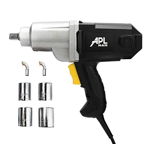 APLMAN Powerful Electric Impact Wrench,Cast Aluminum Nose,230 Ft-LB,7-Amp 1/2-Inch Two-Direction Electric Impact Wrench