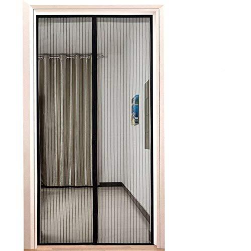 Fliegengitter Tür,Binwo Moskitonetz Tür mit vollständigem Türrahmen Klettverschluss, Fliegenvorhang Magnet zum Schutz vor Mücken, Ideal für Kinder und Haustiere Geeignet für Tür 90 x 210 cm, Schwarz