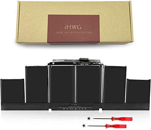 iHWG A1417 Battery for A1398 APPLE MacBook Pro 15 Inch Retina (Mid 2012 & Early 2013) Macbook Pro MC975LL/A MC976LL/A ME665LL/A ME664LL/A MD831LL/A (10.95V/95Wh)