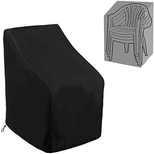Mr.LQ Cubiertas de muebles de jardín, cubierta de silla apilable para jardín, asiento de acompañante de ratán al aire libre, muebles de mesa de patio, cubiertas de salón impermeables