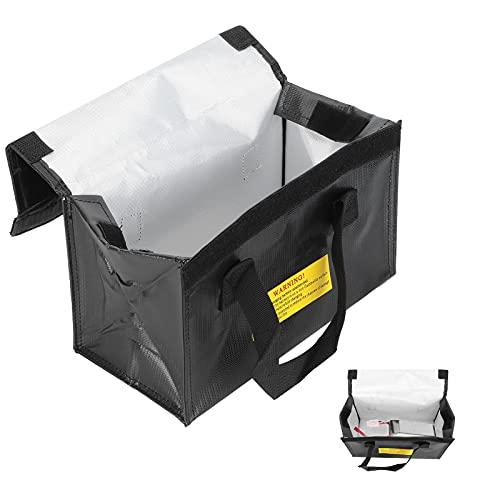 Bolsa Segura Li-Po, Bolsa Protectora de batería Lipo Resistente al Calor para Almacenamiento de batería Lipo para Almacenamiento de baterías de Aviones RC