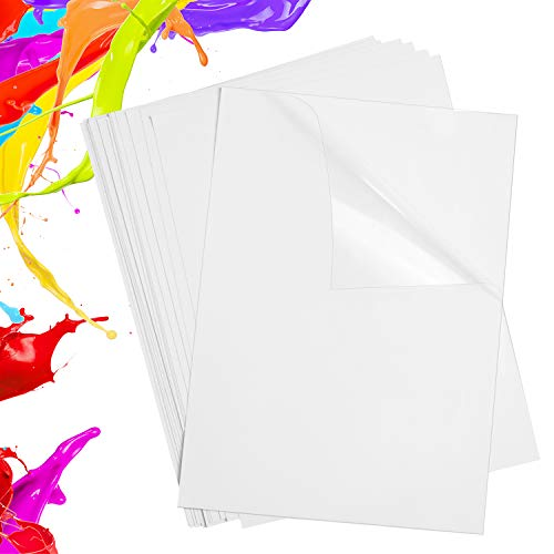 Printable Transparent Sticker Paper 8.5' X 11'- Blank Custom Label Sticker Sheets- 17 Clear Sticker Paper for Inkjet Printers