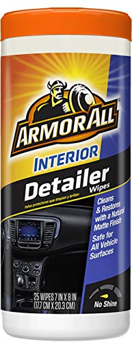 Armor All 78503 Car Interior Cleaner Wipes for Dirt & Dust – Cleaning for Cars & Truck & Motorcycle, Detailer, 25 Count…