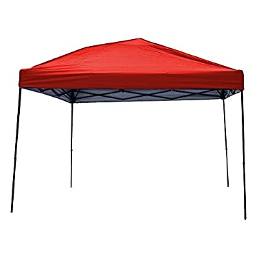 Punchau Pop Up Canopy Tent 10 x 10 Feet, Red - UV Coated, Waterproof Instant Outdoor Party Gazebo Tent