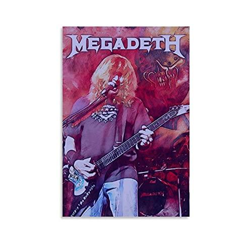Withtap Póster decorativo de Dave Mustaine Megadeth de 20 x 30 cm