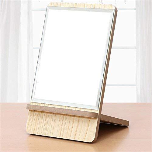DCLINA Espejo Maquillaje para Mujer, Espejo Maquillaje para Mujer Escritorio Alta definición, Espejo tocador portátil Princesa Madera