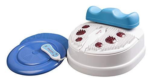 chi-enterprise Vitalstar blau Chi-Massage-Gerät I entspannende 8 Stufen Prog. I 2-stufige Fuß-Reflex-Zonen-Massage | vitalisierende Chi-Maschine inkl. Timer, Fernbedienung u. Twister (Drehteller)