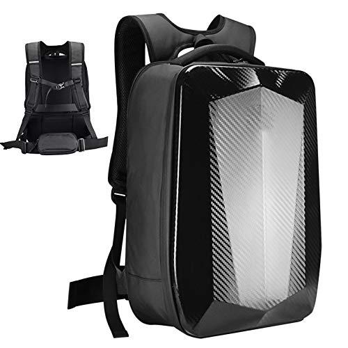 Motorcycle Helmet Backpack Waterproof Cycling Backpack Laptop Rucksack, Outdoor Sports Riding Travel Camping Hiking Backpack,Black
