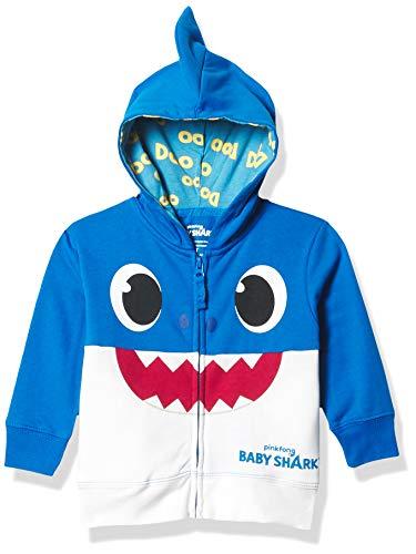 Pinkfong - Sudadera con Capucha para niño con Cierre, diseño de tiburón, Color Azul, Azul, 3 Años