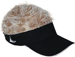 Hair Black Visor with Blonde Hair