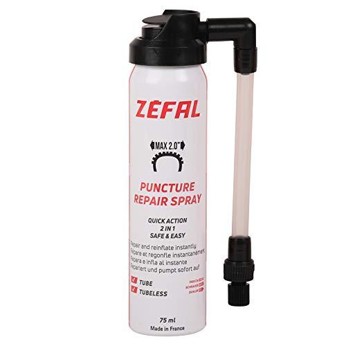 Zéfal 112620 Spray réparation Pneu vélo, Noir, 75ml