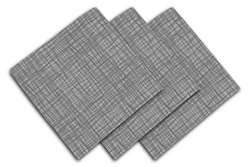 Soleil d'ocre Galaxy Serviette de Table, Polyester, Gris, 45 x 45 cm