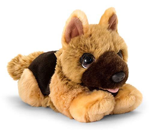Lashuma Keel Toys - Perro pastor de peluche tumbado (32 cm