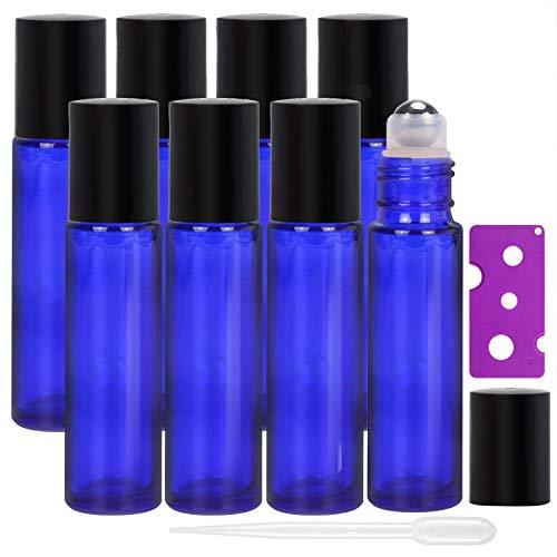 Alledomain, 8 botellas de 10 ml de aceites esenciales, botellas de vidrio...