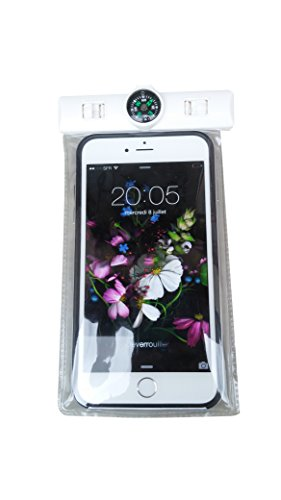 wasserdichte Strandtasche für Smartphone, Kamera, kleine Gegenstände (5,5 Zoll) transparent