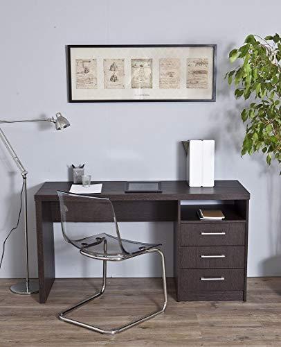 TOPKIT | Mesa de Escritorio Valencia 4040 | Medidas 73 x 140 x 50 cm | Escritorio con cajones | Mesa Ordenador | Mesa Estudio | Wengue