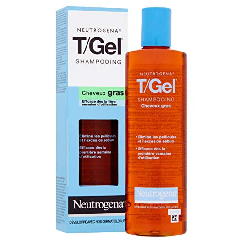 Neutrogena Champú T/Gel Cuidado del Cabello Normal Graso, 250 ml