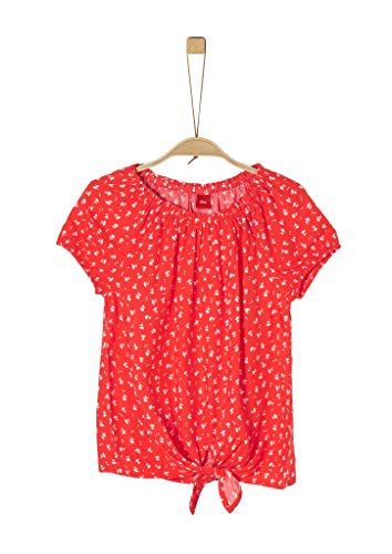 s.Oliver Junior Mädchen 401.12.004.10.100.2037804 Bluse, Rot (31a8 Red AOP), L/REG