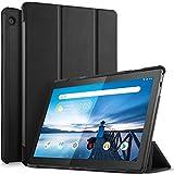 ELTD Funda Carcasa para Lenovo Tab M10, Ultra Delgado Silm Stand Función Smart Fundas Duras Cover Case para Lenovo Tab M10 2018 Model Tableta, (Negro)