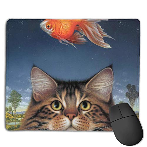 Gaming Mouse Pad Wildlife Art Katzenfutter Heute Goldfisch Catatonic Sunset Rectangle Mouse Pads Mousepad Mat