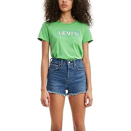 Levi's tee Shirt Camisa, Box Tab Umriss Absinth - Pastilla para Caja, Color Verde, XXL para Mujer