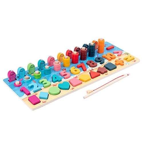 NUOBESTY Montessori Form Sortierer Stapler Holz Stapelspielzeug Geometrische Formen Spielzeug Peg Puzzles Brett Blockiert Baby Farbe Stapel Und Sortierspielzeug für Kleinkinder Angelspiel
