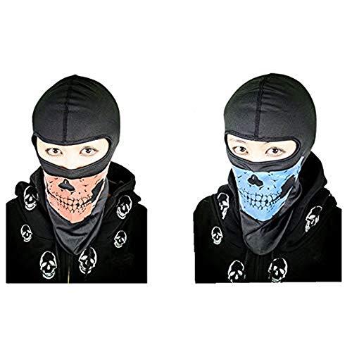 Black Sugar Lot de 2 Couleur Cagoules fantôme Hommes Sport d'hiver Ski Snowboard Moto équitation...