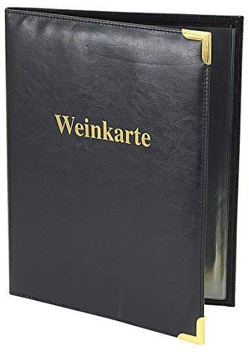 Friedrich Lederwaren Weinkarte, Blau