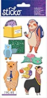 Sticko Dimensional Stickers-Back To School Animal, 7/Pkg