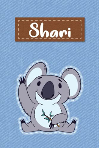 Shari: Lined Writing Notebook for Shari With Cute Koala, 120 Pages, 6x9