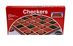 Checkers is a two-player strategy game played on a checkered board with 64 squares arranged on an 8x8 grid Makes a great addition to your game collection - an easy to learn, timeless classic Features folding game board for easy storage and years of p...