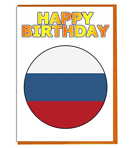 Russische Federatie Vlag - Verjaardagskaart - Vriend - Familie - Collega - Mate - Boss - Loved One