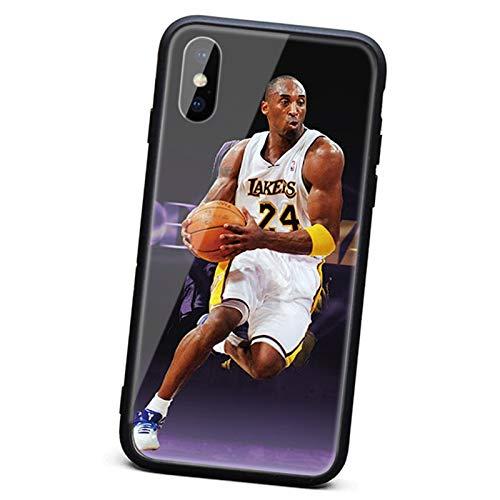 XMYP Case de Kobe para iPhone 7/8, 7 / 8plus, Jugador de Baloncesto Tapa de teléfono Protectora Completa, Anti-Dactilares 6D TPU Marco de Goma PC Cubierta Trasera Resiste B-7/8