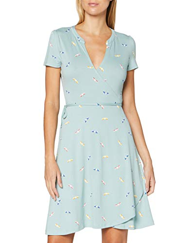 ESPRIT Damen 040EE1E339 Kleid, 390/LIGHT Aqua Green, S