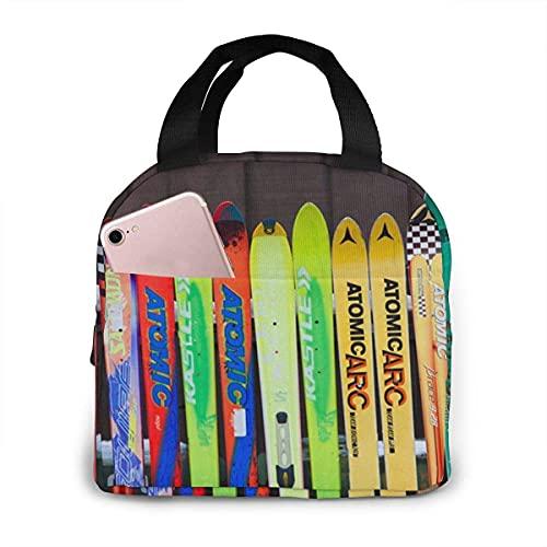 Borsone da sci colorato Borsa da pranzo isolata per sport da neve per uomo Donna Scuola/Ufficio/Picnic/Borsa da pesca