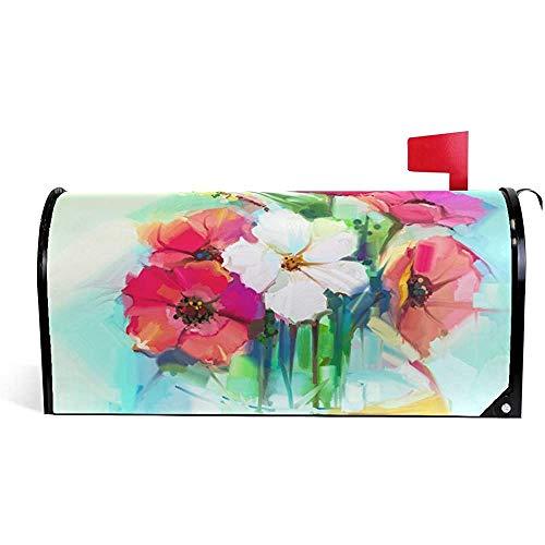 Garden's dekorative Hibiskusblume Magnetische Mailbox Abdeckung21 * 18 Zoll 21 * 18 Zoll