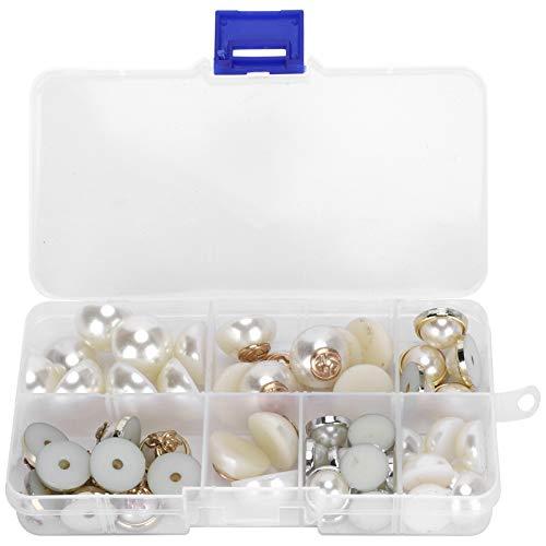 Flatback Half Round Pearl Plastic Half Pearl Imitation Half Round Pearls Assortment Kit for DIY Craft Jewelry Making Decorations